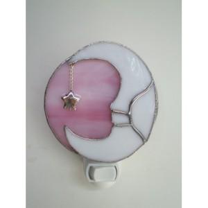 crescent pink moon