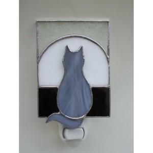 gray cat window